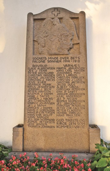 Mindesten, Varnæs Kirkegård med brødrene Christian og Jørgen Køcks