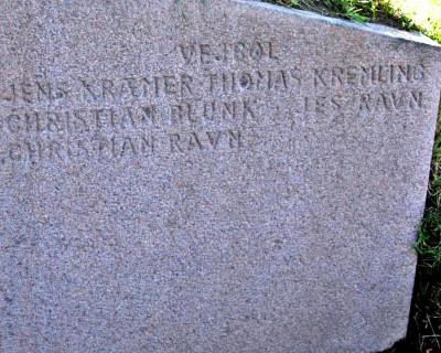 Mindesten, Vedsted Kirkegård