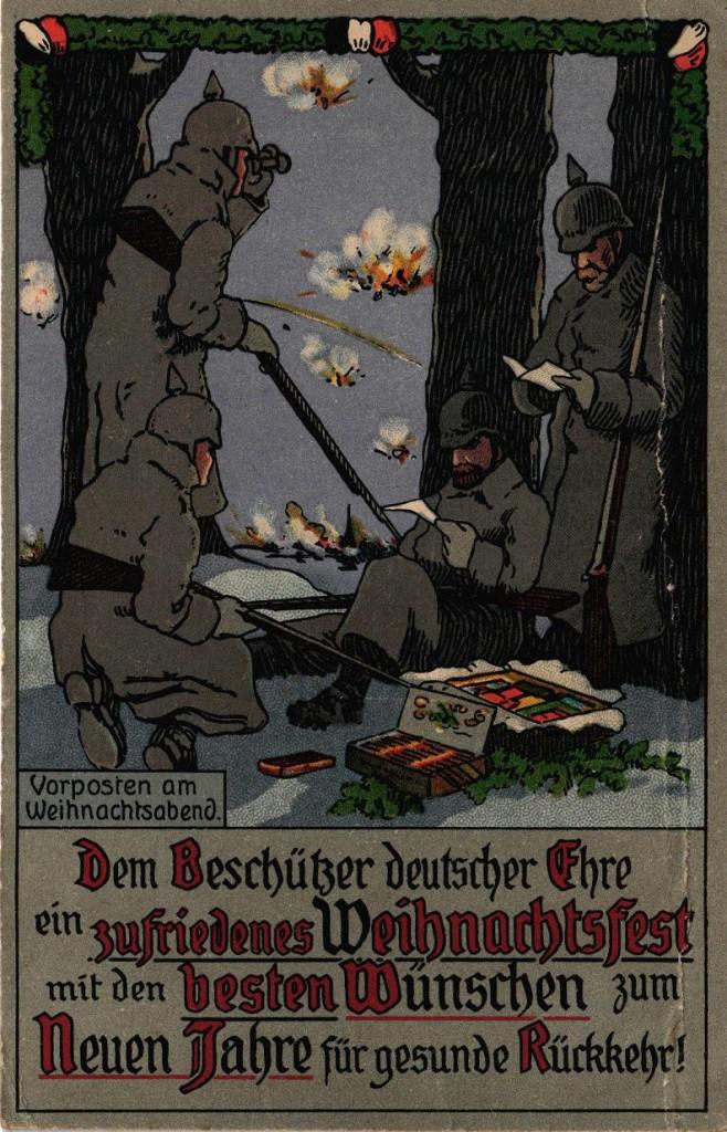 1915-12-24 LIR84 Otto Theodor Wagner  - Vorposten am Weihnachtsabend 1915